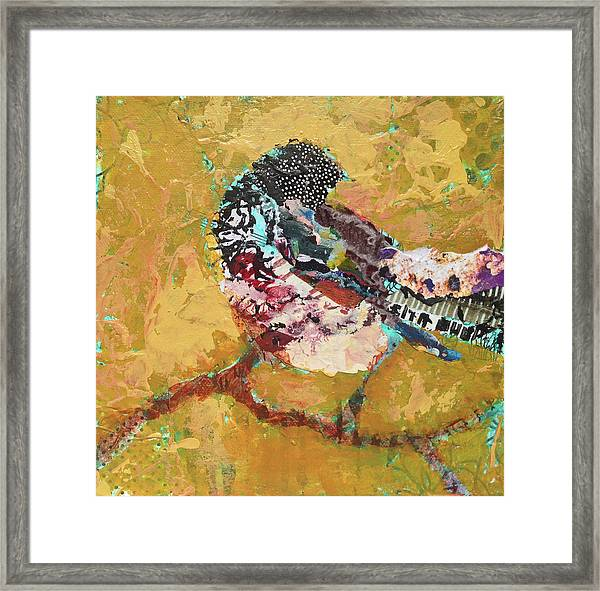 Framed Print featuring the painting Carmine by Shelli Walters