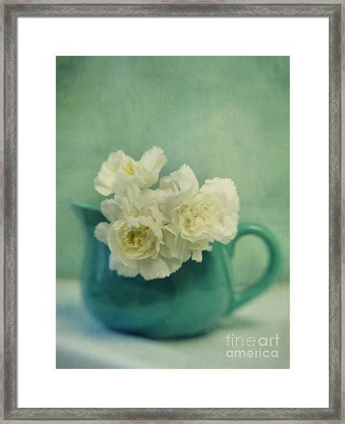 Carnations In A Jar Framed Print