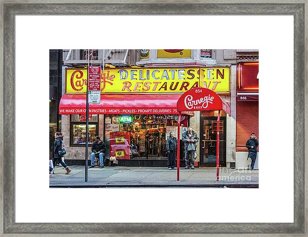 Carnegie Deli Framed Print