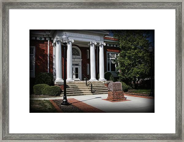 Carnegie Library Framed Print