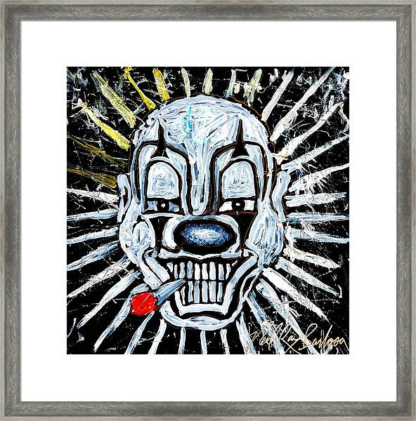 Carnival Clown Framed Print