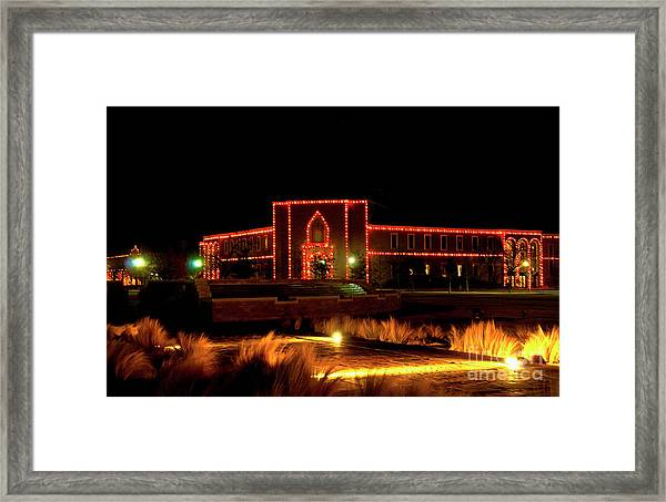 Framed Print featuring the photograph Carol Of Lights At Science Building by Mae Wertz