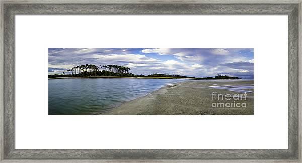 Carolina Inlet At Low Tide Framed Print