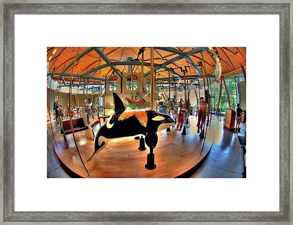 Carousel 2 At The Butchart Gardens Framed Print