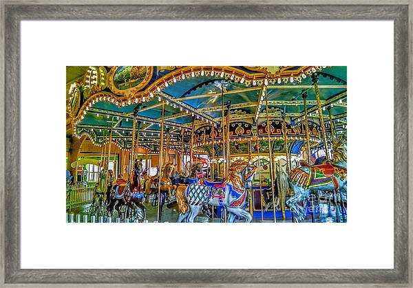 Carousel At Peddlers Village Framed Print