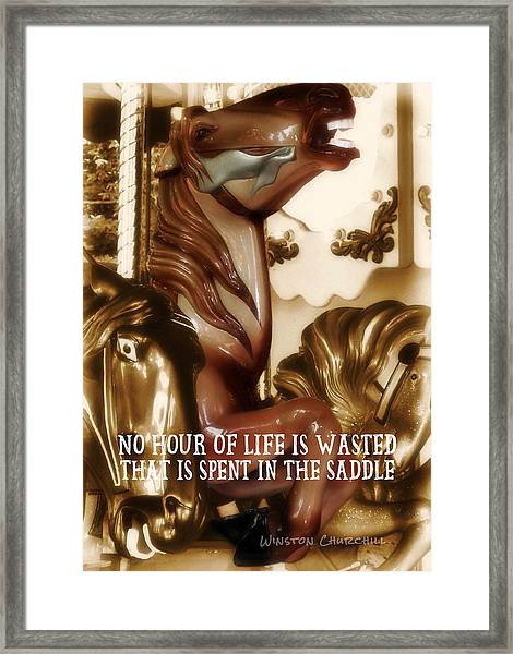 Carousel Color Quote Framed Print