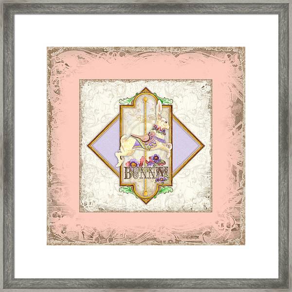 Carousel Dreams - Bunny Framed Print