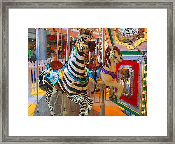 Carousel Horses Framed Print