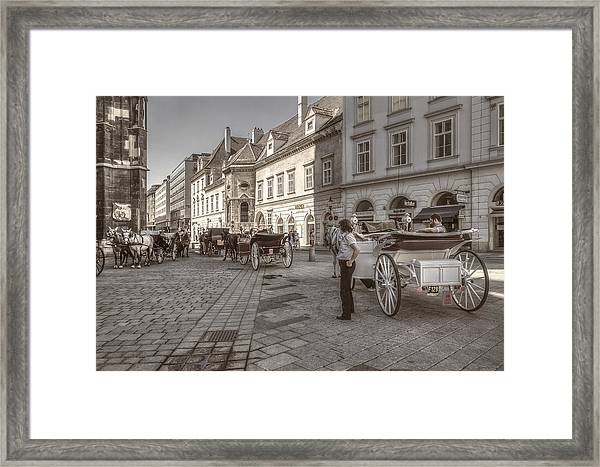 Carriages Back To Stephanplatz Framed Print
