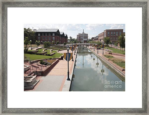 Carroll Creek Park In Frederick Maryland Framed Print