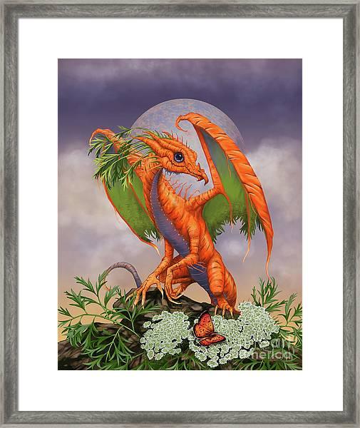 Carrot Dragon Framed Print