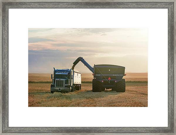 Cart Into Truck Framed Print