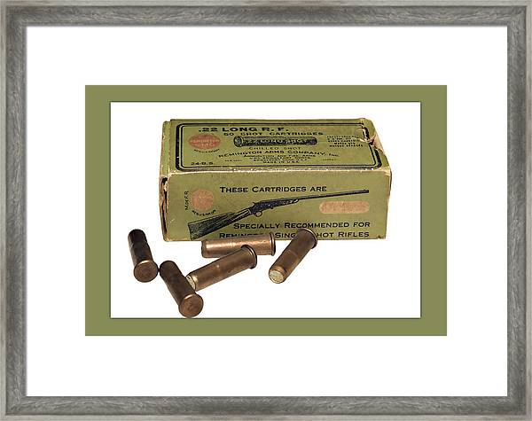Cartridges For Rifle Framed Print