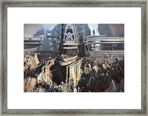 Carved From A Mountain Framed Print