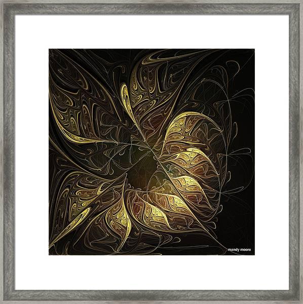 Carved In Gold Framed Print