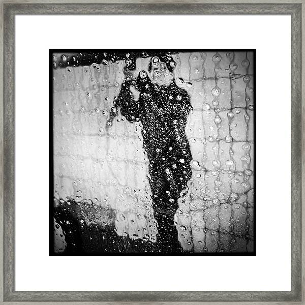 Carwash Cool Black And White Abstract Framed Print