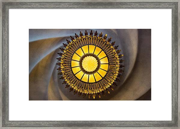 Casa Batllo Ceiling Lamp Barcelona Spain Framed Print