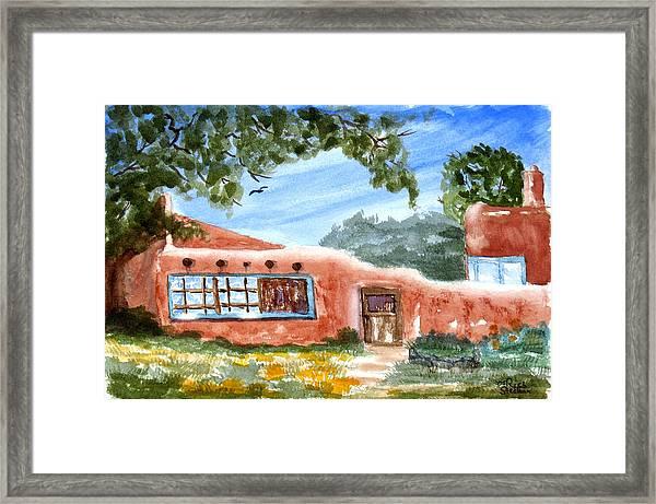 Casa En Taos Framed Print