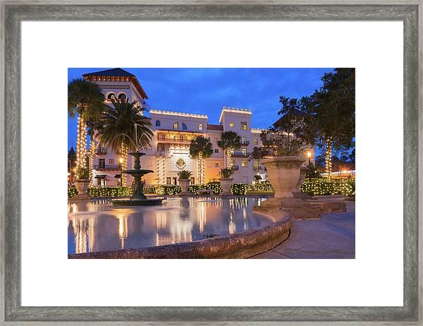 Casa Monica Hotel During Nights Of Lights Framed Print