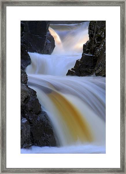 Cascade At Dawn Framed Print