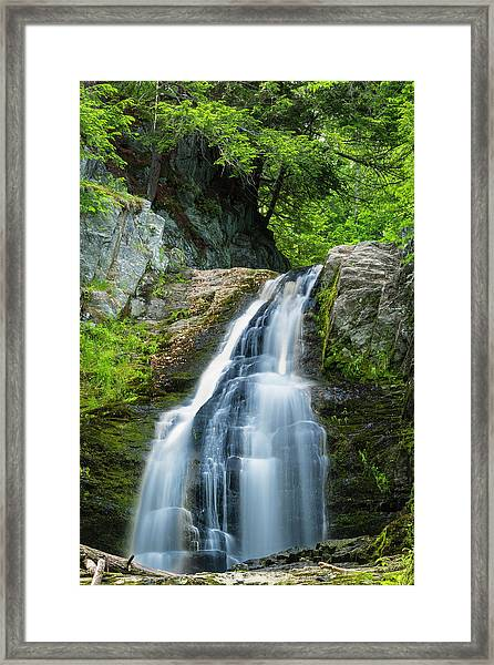 Cascade Falls In South Portland In Maine Framed Print