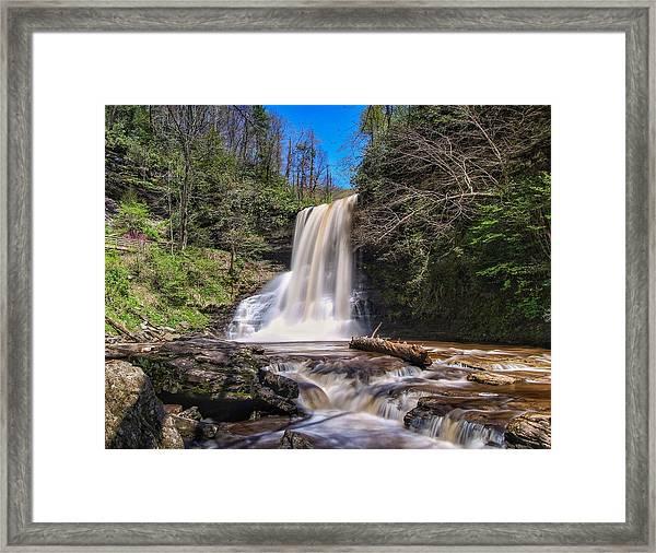 Cascade Falls In Spring Framed Print