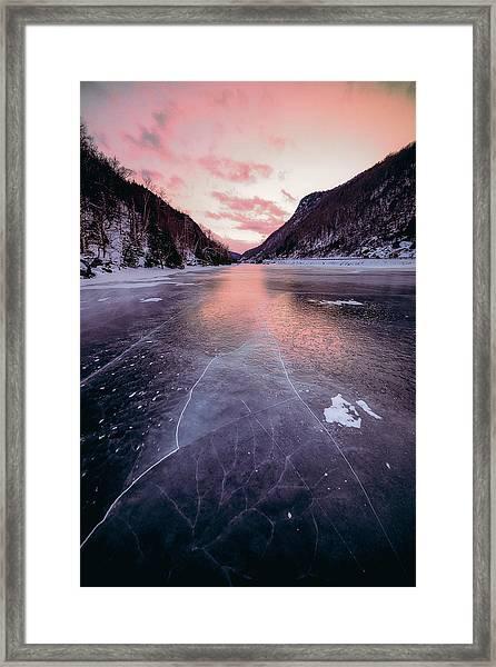 Cascade Ice Framed Print