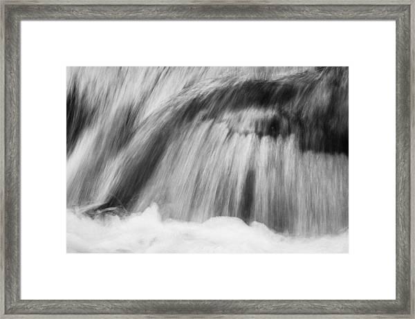 Cascade In Monochrome Framed Print