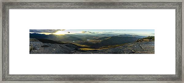 Cascade Mountain Sunset Framed Print