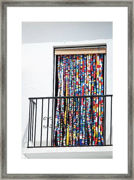 Cascade Of Colour Framed Print