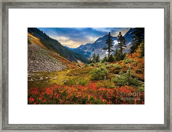 Cascade Pass Fall Framed Print