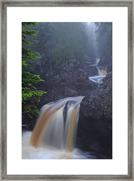 Cascade River Cascade Framed Print