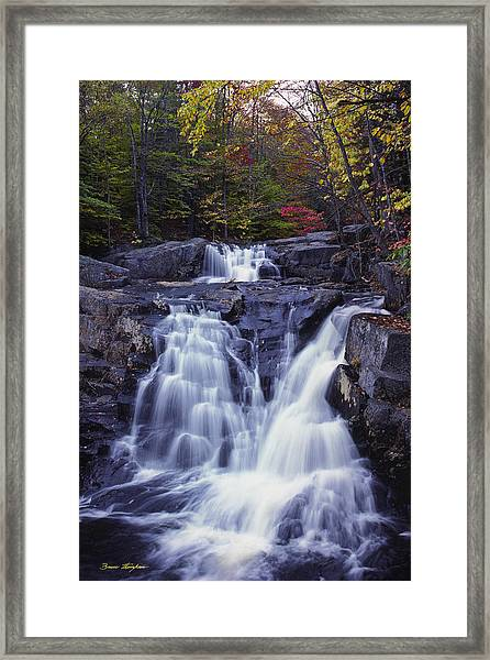 Cascades In Autumn Framed Print