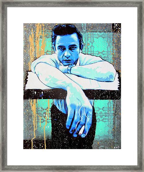 Cash - Preacher Man  Framed Print