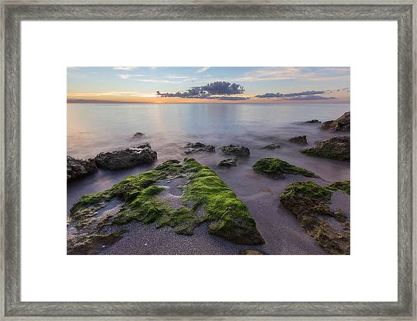 Caspersen Beach Sunset Framed Print