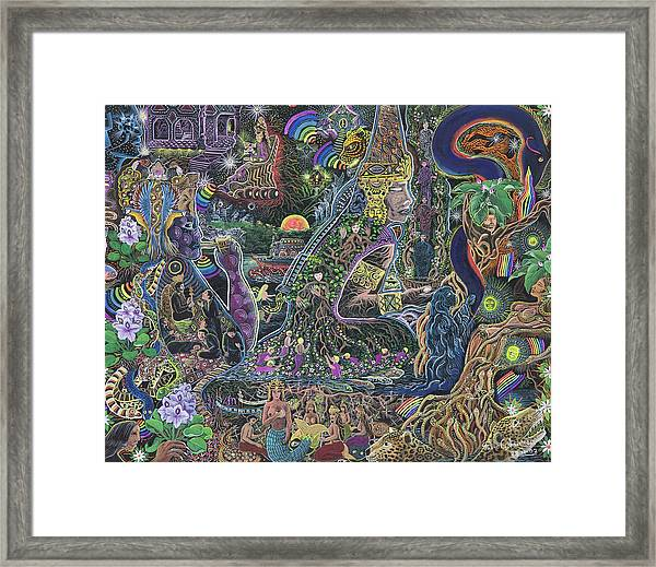 Framed Print featuring the painting Caspi Maman by Pablo Amaringo