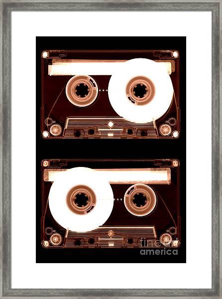 Cassette Tapes Framed Print