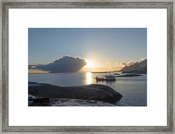 Cast A Giant Shadow... Reine Lofoten Framed Print
