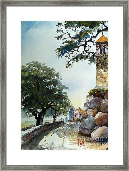 Castel At Borgo Rapale Framed Print
