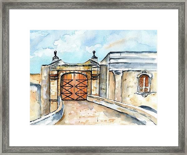 Castillo De San Cristobal Entry Gate Framed Print