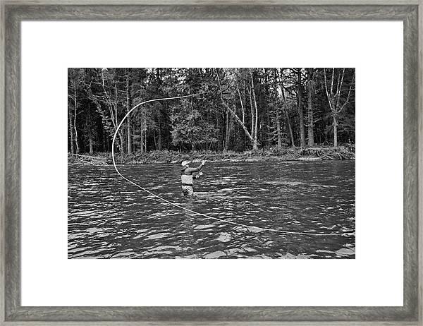 Casting Framed Print