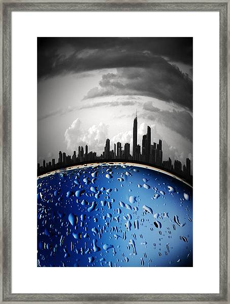 Casting Shadows Framed Print