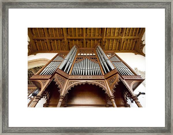 Castle Ashby Pipe Organ Framed Print