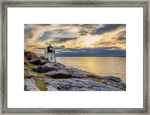 Castle Hill Light Hdr Framed Print