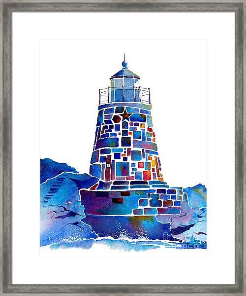 Castle Hill Newport Lighthouse Framed Print