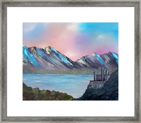 Castle Landscape Framed Print