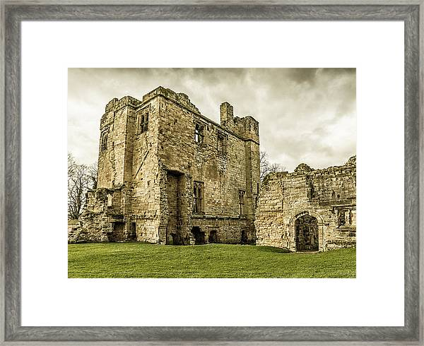 Framed Print featuring the photograph Castle Of Ashby by Nick Bywater