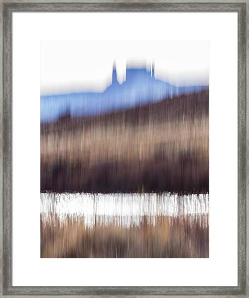 Castle Rock And Colorado River Framed Print