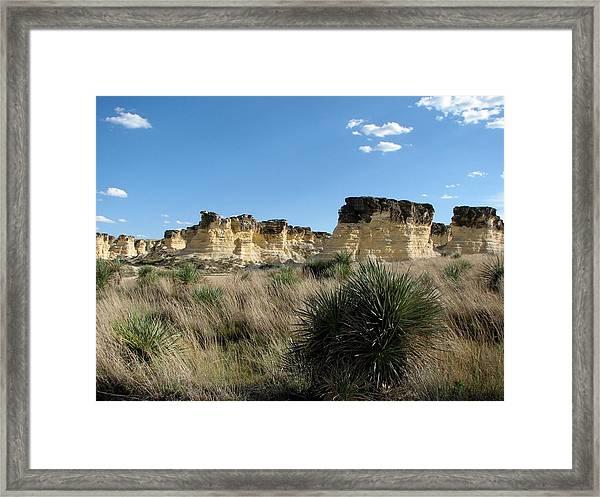 Castle Rock Badlands Framed Print