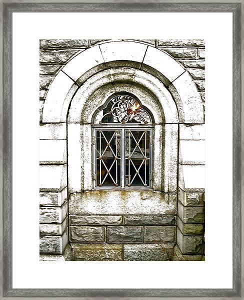 Castle Window Framed Print